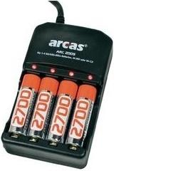 Arcas ARC-2009 + 4x AA 2700 mAh nabíječka 200287