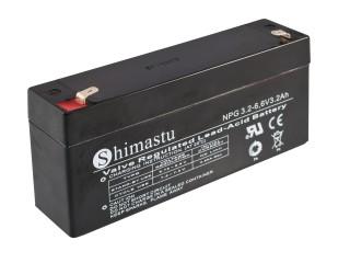 Baterie Shimastu NPG3.2-6, 6V/3,2Ah Olověný akum.