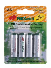 Baterie NEXCELL AA 1400mAh 4ks 1,2V blistr Ni-MH