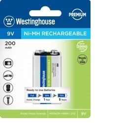 Baterie Westinghouse Premium 9V 200mAh 1ks 6F22