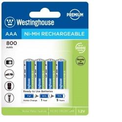 Westinghouse AAA NiMH 800mAh 1,2V, blistr 4ks