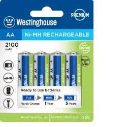 Baterie Westinghouse AA 2100mAh 4ks NiMH
