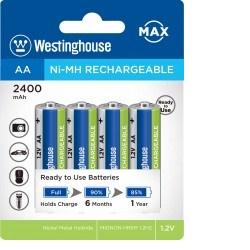 Westinghouse AA NiMH 2400mAh 4ks akumulátor MAX