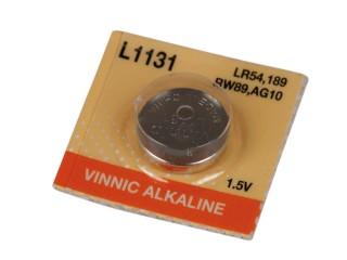 Baterie knoflíková VINNIC AG10, 1,5V alkalická