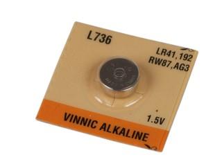 Baterie VINNIC AG3 1ks 1,5V alkalická knoflíková