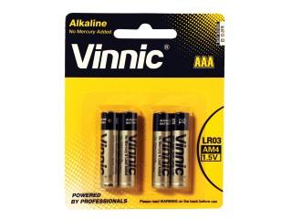 Baterie VINNIC alkalická AAA 1ks LR3 1,5V