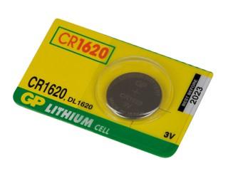 Baterie GP CR1620 1ks 3V lithiová knoflíková