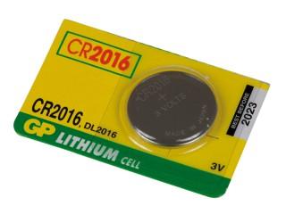Baterie GP CR 2016 1ks 3V lithiová knoflíková