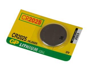 Baterie lithiová knoflíková GP CR2025 3V 150mAh