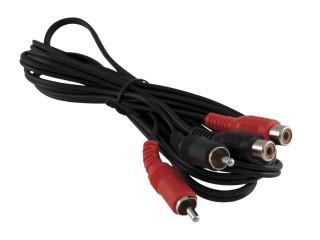 Kabel Cinch (M) 2x -Cinch (F) 2x, 5 m prodlužovací