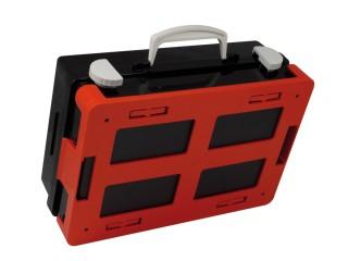Plastový kufr na nářadí EVRA SET-1-C černý