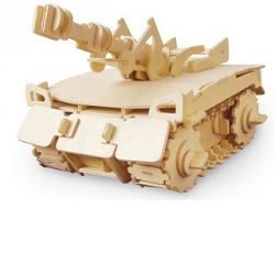 Robotime RC V200 tank dřevěné 3D puzzle