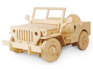 Robotime RC V400 jeep Dřevěná Stavebnice