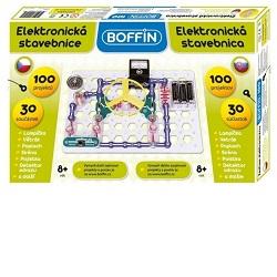 Fotografie Boffin 100 elektronická stavebnice 100 projektů na baterie 30ks v krabici