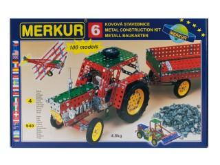 Fotografie MERKUR 6 Velká sada traktor * KOVOVÁ STAVEBNICE *