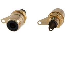 OEM Cinch konektor samice na panel zlacený
