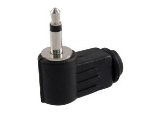 Konektor Jack 3.5mm mono úhlový plast
