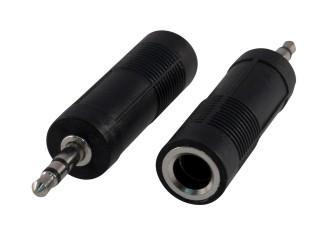 Redukce stereojack 3,5 na 6,3 samice M/F