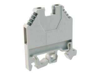 Šroubovací svorkovnice na DIN lištu, šeda. WK4