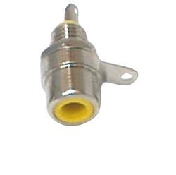 Konektor Cinch zásuvka panelová žlutá