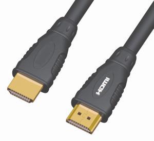 Kabel HDMI A - HDMI A M/M 15m zlacený 1.3