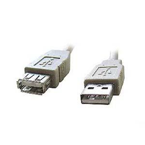 Kabel USB2.0 A-A 3m prodlužovací (A-M/A-F)