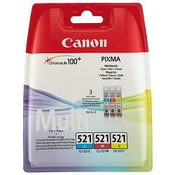 Canon CLI-521-C+M+Y - originální multipack náplní