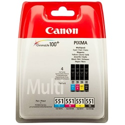 Canon CLI-551 C+M+Y+BK originální multipack
