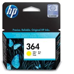 HP 364 CB320EE originální inkoustová náplň žlutá