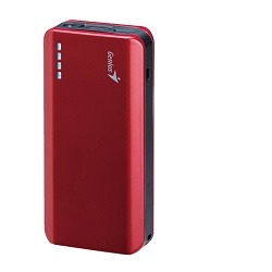 Fotografie Genius Power Bank ECO-U622, 6000 mAh, červená