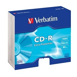 Verbatim CD-R80 700MB 52x Data Lifeslim 1ks 43415