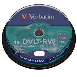 VERBATIM DVD-RW 4,7GB, 4x, 1ks 43552
