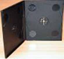 Box na VCD (plastový obal na 2 CD)/ 10,4mm černý
