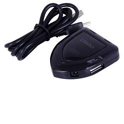 USB HUB 4 porty USB 2.0 LED světlo, černý, U1219