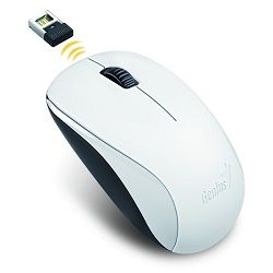 Myš GENIUS NX-7000 bezdrátová, bílá USB optická