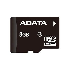 ADATA microSDHC 8GB Class 4 AUSDH8GCL4-R
