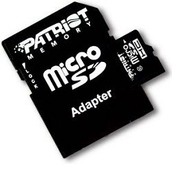 Patriot 8GB MicroSDHC Class 10 + adaptér, karta