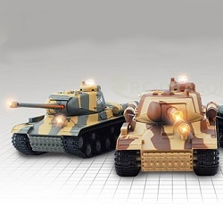 RC tanky infrared battle sada 2ks tanků 1:36