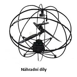 Vrtulník UFO - náhradní listy, vrtulka, táhlo sada