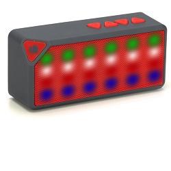 NGS ROLLER FLASH Micro SD 3W FM rádio USB Červený