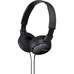 SONY MDR-ZX110 sluchátka, černá, skládací, 1.2m