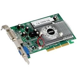 MSI FX5200-D256 AGP 256MB DDR DVI, VGA