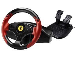 Sada volantu a pedálů Ferrari Racing Wheel Red
