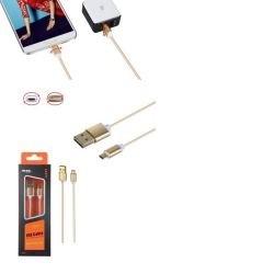 M-TK K3371 zlatý Datový a nabíjecí kabel MicroUSB