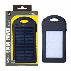 PLUS N8334 černá, solární PowerBank 5000mAh