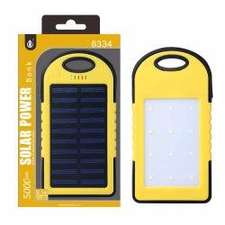 PLUS N8334 5000mAh žlutá solární, se svítilnou