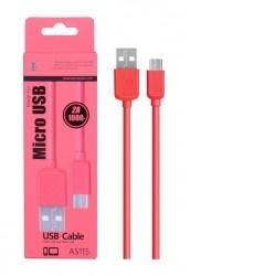 Aligator Datový a nabíjecí kabel PLUS, Micro USB r