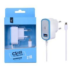 Nabíječka PLUS CS102 - neoriginální 5V/2A modrá