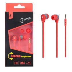 PLUS EM104 Sluchátka do uší červeno-šedá HD zvuk
