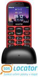 ALIGATOR A880 GPS Senior červený +stolní nabíječka